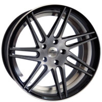 Alufelgi Charge 19×8.5 5×120 ET33 Black Faced Machined/inlm