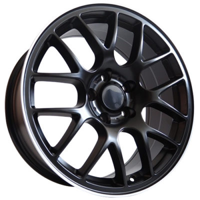 Alufelgi Power 18×8 5×112 ET35 Black Matt Faced Machined
