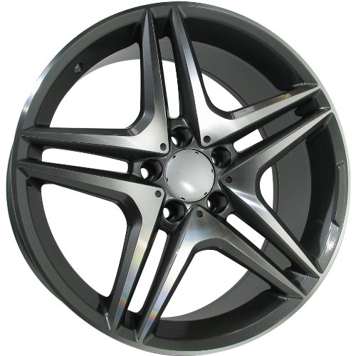 Alufelgi Star2 18x95 5x112 Et44 Grey Faced Machined Felgi
