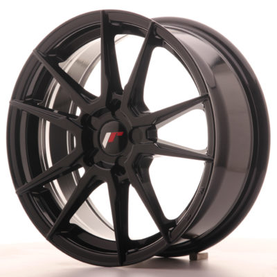 Japan Racing JR21 17x7 ET35-40 5H Blank GlossBlack