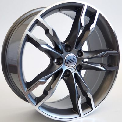 Alufelgi Prit 18×8 5×112 ET30 Grey Faced Machined
