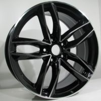 Alufelgi CAR1 17×7.5 5×112 ET35 Black Faced Machined