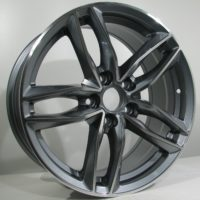 Alufelgi CAR1 17×7.5 5×112 ET42 Grey Faced Machined
