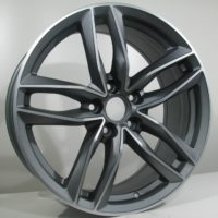 Alufelgi CAR1 17×7.5 5×112 ET35 Grey Matt Faced Machined