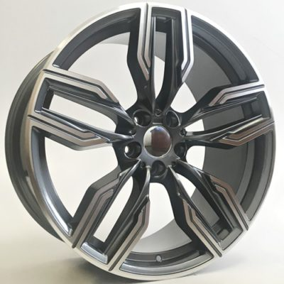 Alufelgi Vector 20×8.5 5×112 ET25 Grey Faced Machined