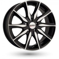 Alufelgi Disla Raptor 17×7.5 5×110 ET40 Black Faced Machined