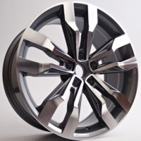 Alufelgi Flatch 18×8 5×112 ET33 Grey Faced Machined