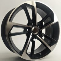 Alufelgi Fond 17×7.5 5×112 ET45 Black Faced Machined