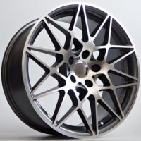Alufelgi Gatan 19×8.5 5×120 ET30 Grey Faced Machined