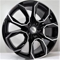 Alufelgi Sila 17×7 5×112 ET42 Black Faced Machined