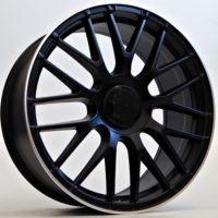 Alufelgi Vita 19×8.5 5×112 ET45 Black Matt Lip Machined