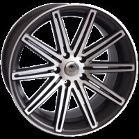Alufelgi Vertin 19×9.5 5×120 ET35 Grey Matt Faced Machined