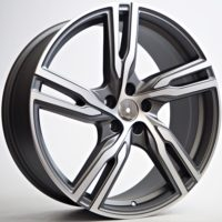 Alufelgi Globe 20×8.5 5×108 ET45 Grey Matt Faced Machined