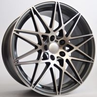 Alufelgi Sleek 20×8.5 5×120 ET35 Grey Faced Machined